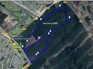 parcours forest run bouskoura 2018 - 10 km