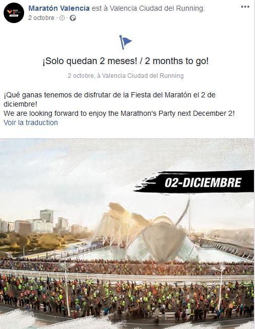 2 mois pour le maraton valencia