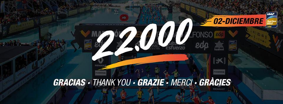 22000 inscrits au maraton valencia